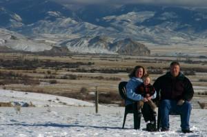 Christmas 2005 on Open A Ranch, near Dillon, Montana.