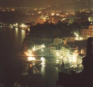 Sorento Bay at Night, Sorento, Italy